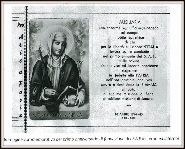 """Panoramio - Photo of """"PRO ARIS ET FOCIS"""" - PREGHIERA DELLE AUSILIARIE DEL S.A.F."""