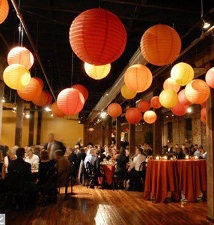 Mariage bulle et lumière orange, marron, ivoire