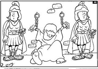19 best lesson 10 peter is put in prison and then freed by for Peter and john in jail coloring page