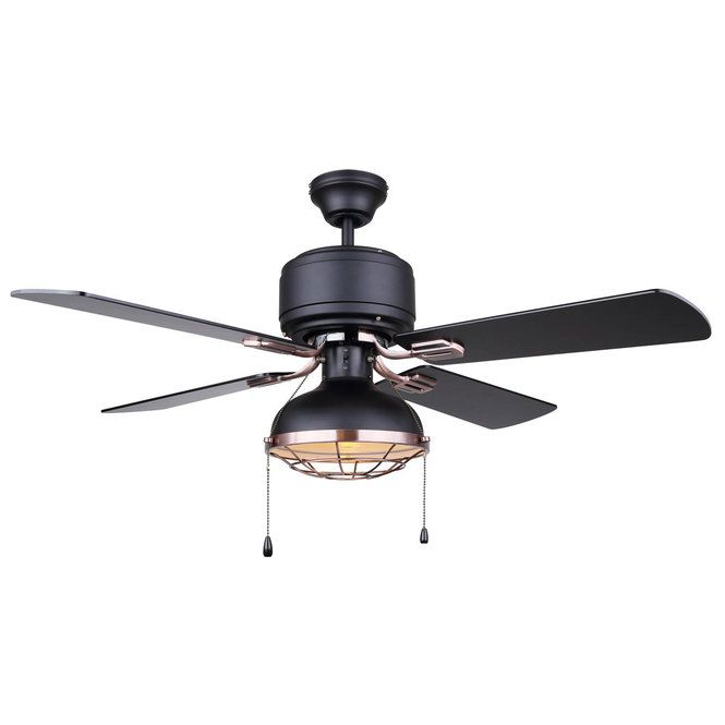 An Industrial Classic Is Given A Modern Makeover In This Subtly Stylish Fixture By Mixing Finishes And Textur With Images Ceiling Fan Ceiling Fan Shade Bronze Ceiling Fan