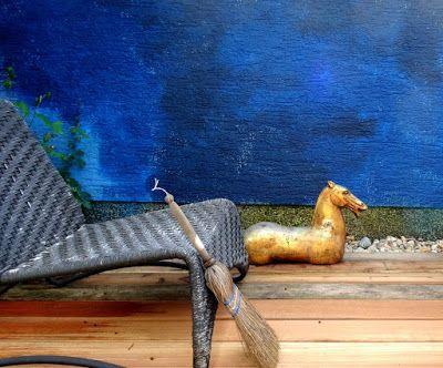 . . . my green haven , holzterasse materialmix: alte red cedar dielen und neue aus bangkirai...