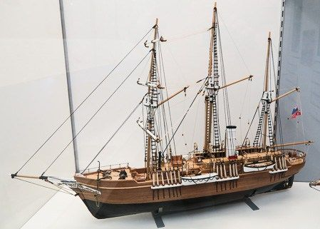 Model of Shackleton's Endurance at the Scott Polar Research Institute, Cambridge | Jill Browne
