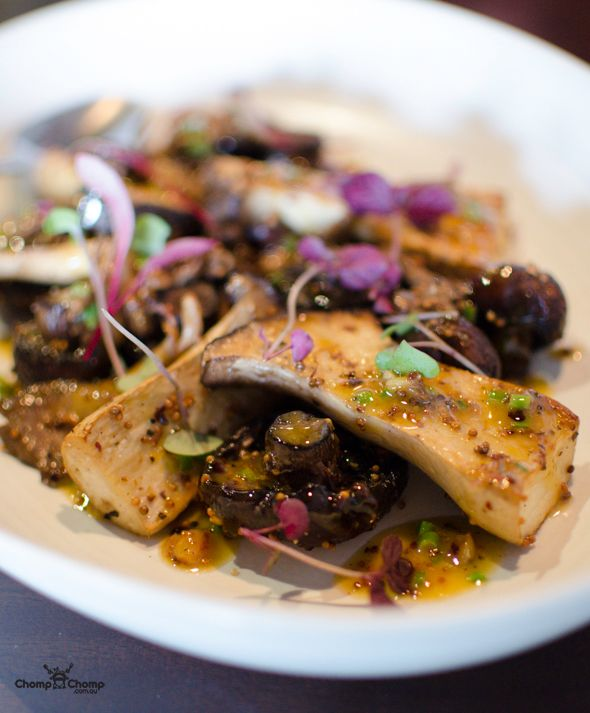 Roasted garlic and mustard mushrooms (King oyster, Shiitake, Oyster, Swiss Brown) at The Precinct, Vic Park    Gluten Free   Vegetarian   Food & Travel Blog