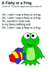 16 best images about frogs preschool on pinterest rock for Fish songs for preschoolers