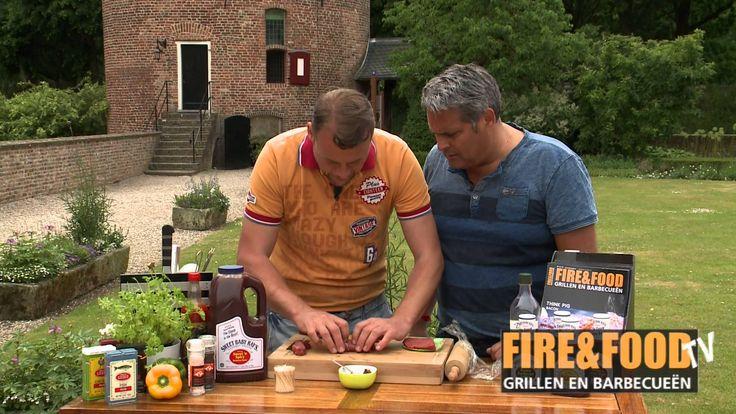 Fire&Food - Biefstukrolletjes met pesto