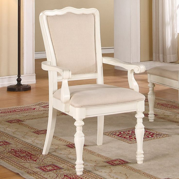 Beautiful Placid Cove Upholstered Dining Arm Chairs   Set Of 2