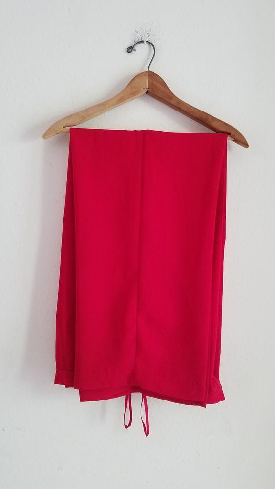 Talbots Women's Palazzo Pants Size 12 Pure Silk Beige And Black Design EUC #Talbots #Palazzo