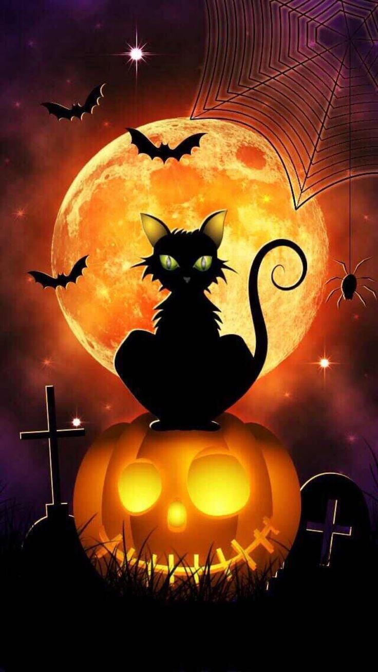 347 besten Halloween Bilder auf Pinterest | Chibi, Schwarze katzen ...