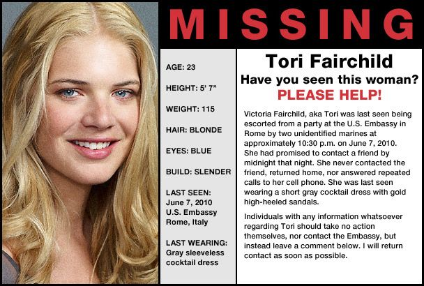 missing people | Missing Person - Tori Fairchild - Help Find Tori