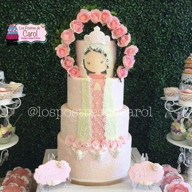 Vintage First Communion party cake! See more party planning ideas at CatchMyParty.com!