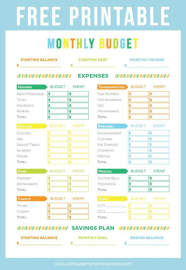 Get your finances in order with this FREE Printable Budget Sheet! refinance credit card debt, pay off credit card debt #debt #credit #payoffdebt