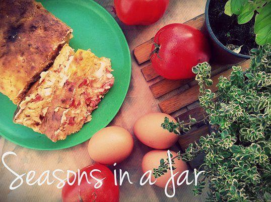 Seasons in a jar: Αλμυρό κέικ με ντομάτα και φέτα