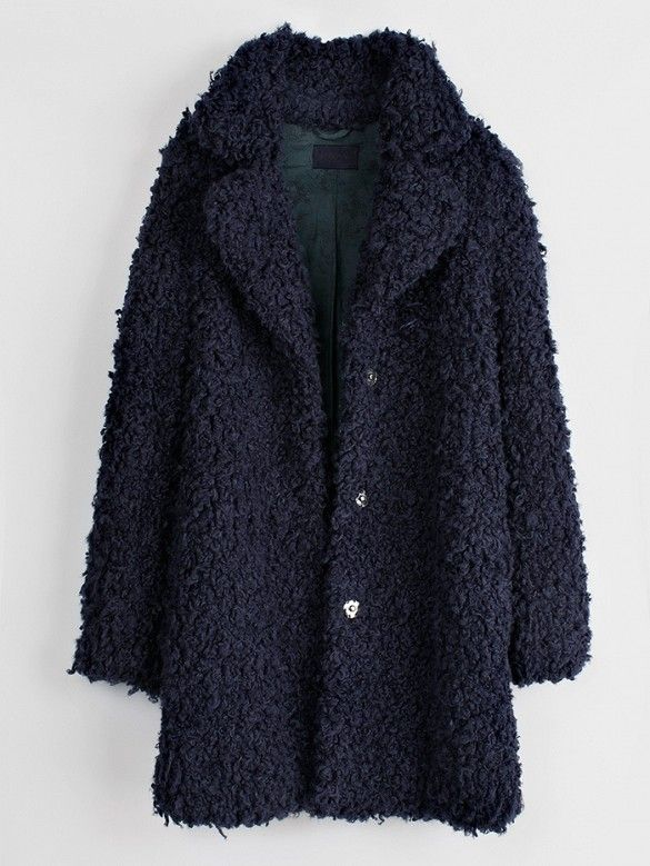 Zadig & Voltaire Kana Faux-Fur Snap Coat // #Shopping