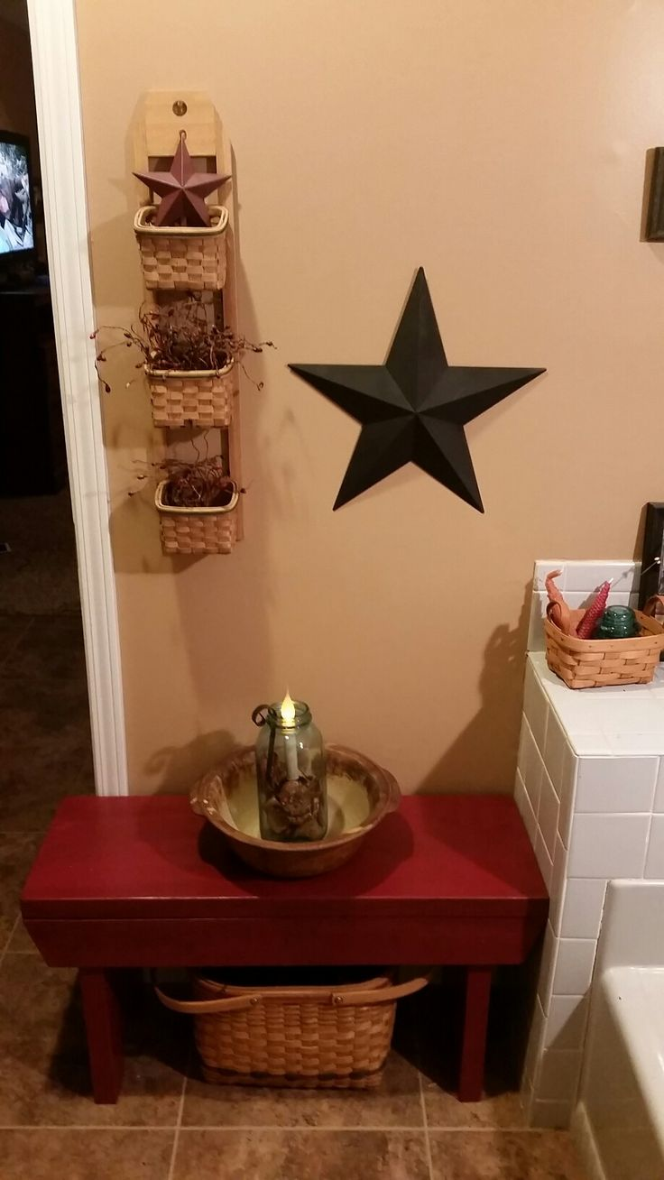 Country primitive bathroom decor