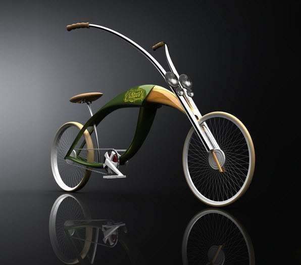 "Designer Mateusz Chmura has come up with The Grass Chopper – an elegant new bike ""mimicking the wings and folded legs of a grasshopper""."