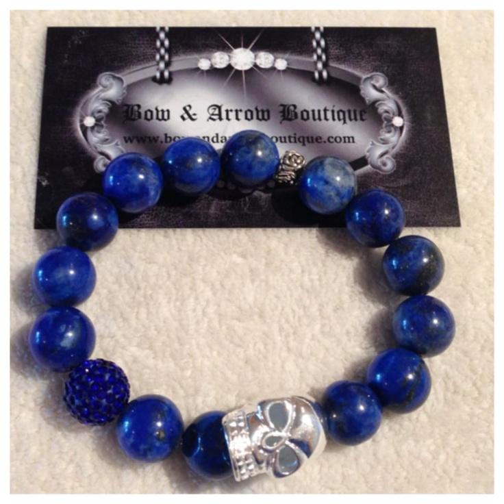 $75  Mens Blue Stone Bracelet