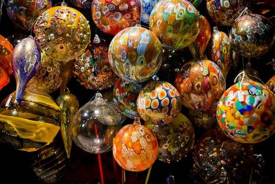 Christmas ornaments in Murano http://travelblog.viator.com/where-to-spend-christmas-in-italy/