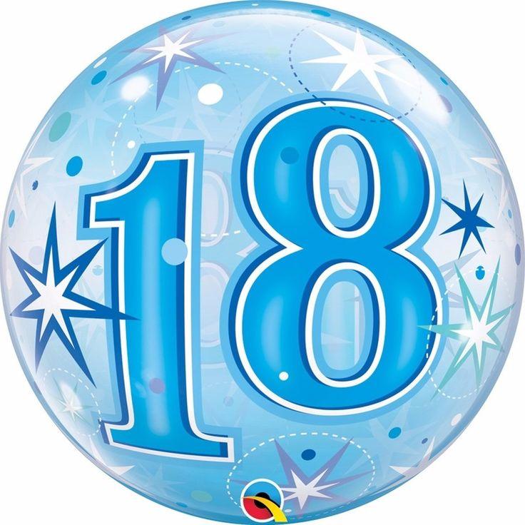 Folie helium ballon in het blauw van 18 jaar. Folie ballon met 18 jaar geworden opdruk. De folie ballon is ongeveer 55 cm groot. Deze folie ballon wordt gevuld met helium geleverd en kan derhalve niet geretourneerd worden.