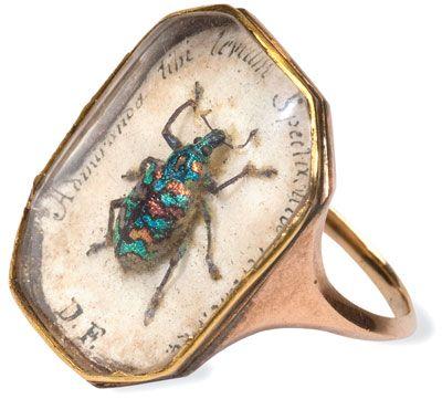 Antique beetle ring circa 1815