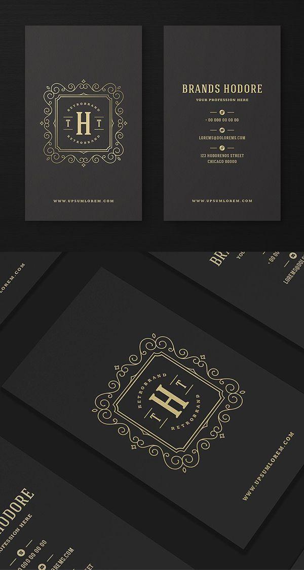 Luxury Golden Flourishes Ornament Business Card And Logo Design Luxury Business Cards Business Card Template Design Business Cards Creative
