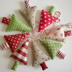 handmade fabric christmas tree decorations - Google Search