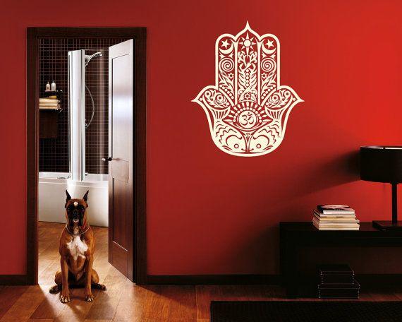 Wall Decal Vinyl Sticker Decals Art Decor Design Hamsa Hand yin yang Indian Buddha Ganesh Lotos Modern Bedroom (r139)