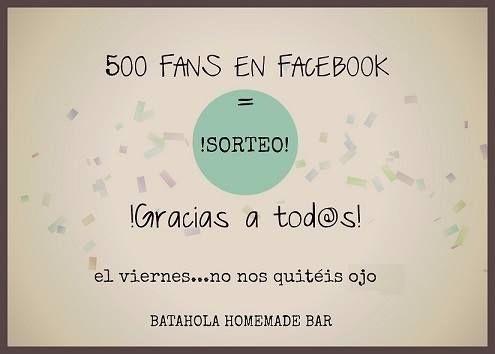 !wow! !ya somos 500! #facebook #homemade #elche #restaurante