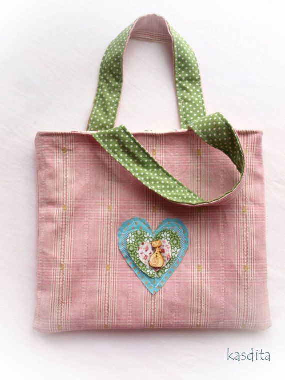Small kitty bag for girls by kasdita on Etsy