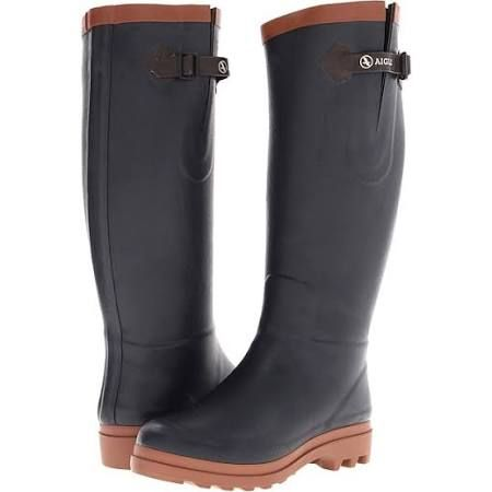 aigle boots navy amber - Google Search