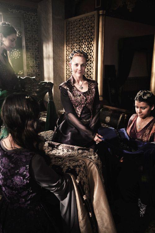 Meryem Uzerli photographed on the set of Muhteşem Yüzyıl Season 3 by Emre Yunusoğlu, May 2013