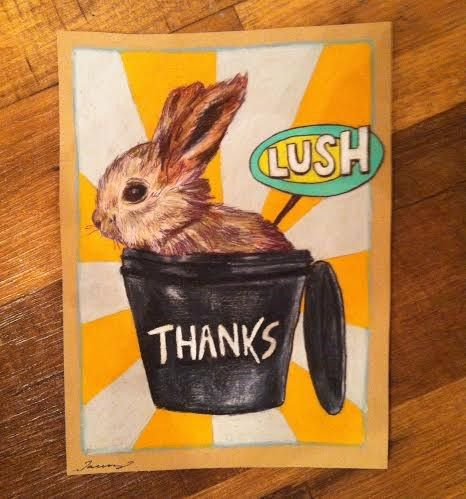 """Thanks for protecting our animals and I'm sure they're thankful as well."" A little LUSHie love sent our way from Alex D! Thank YOU, Alex! #fightinganimaltesting"