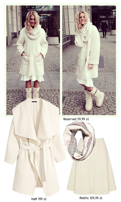 Zimowo, chociaż biały total look był modny także latem. Wywiad z Zosią Ślotałą, na której stylizacji się wzorujemy znajdziecie na naszym blogu: http://sferafashion.com.pl/to-moi-rodzice-ksztaltowali-moj-gust-wywiad-z-zosia-slotala/