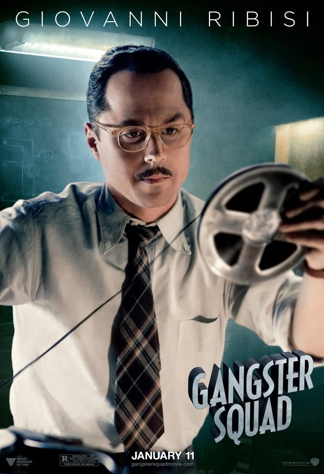 Gangster Squad - movie poster featuring Giovanni Ribisi as Officer Conwell Keeler #GangsterFlick