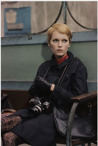 mia farrow, style icon. New Leather gloves on my wish list, for winter and to leave no fingerprints! Haha