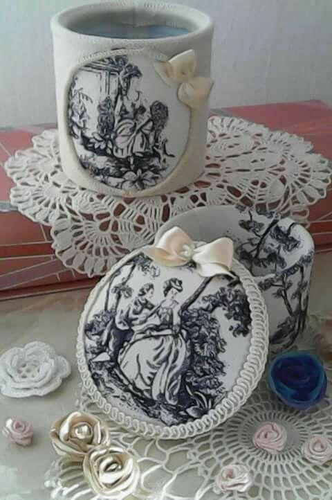 Victorian textile gift boxes create by Babu Szabo