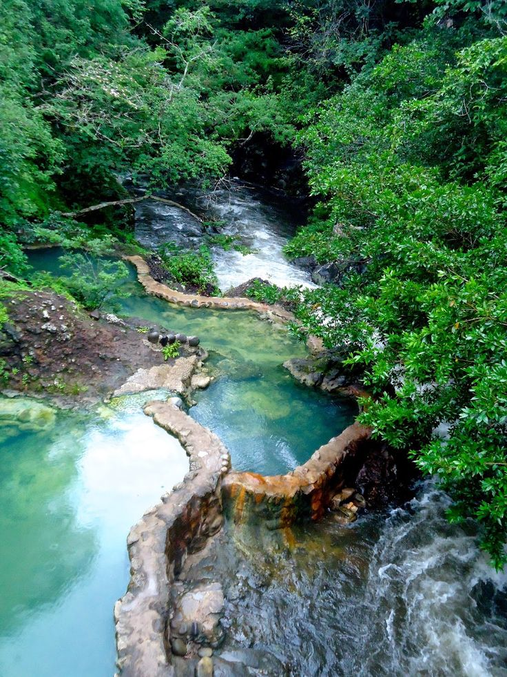 Most incredible place to go for a swim - the incredible warm pools at Rincon De La Vieja Volcano National Park, Costa Rica. Each pool was a different temperature. Such an amazing place to relax and enjoy all the surrounding nature.
