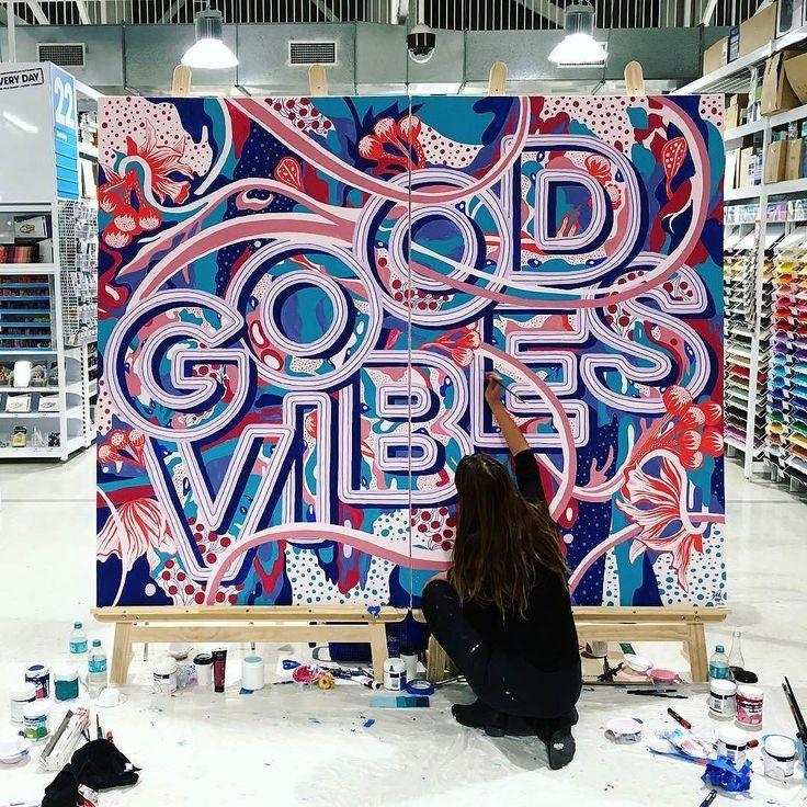 Beautiful mural by @mrseaves101 | #typegang - typegang.com | typegang.com #typegang #typography