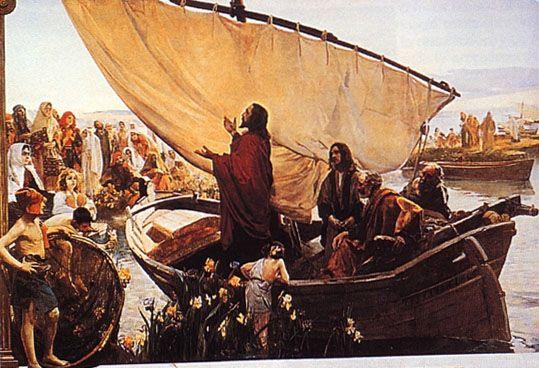 """""""Jesús predicando desde la barca"""". Joaquin Sorolla. se encuentra en la colección Lladró, y en ella luce todas las características de su pintura luminosa, naturalista e impresionista"""