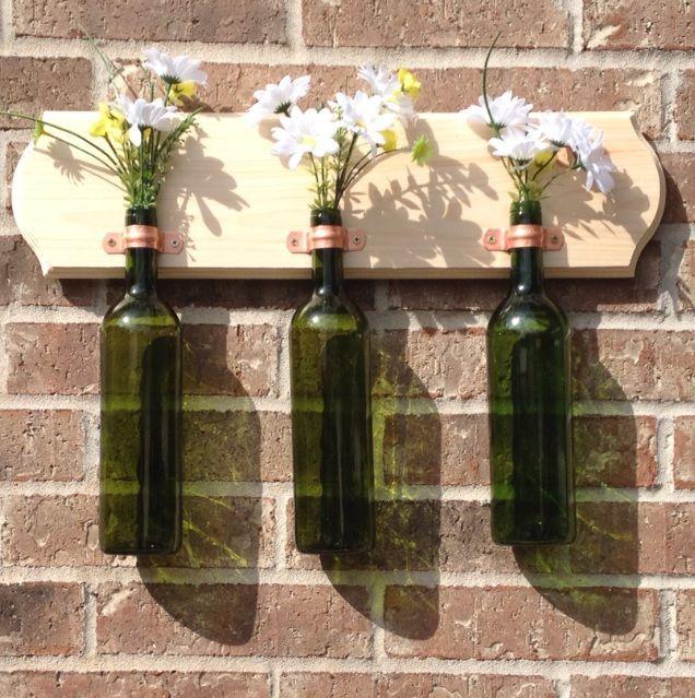 38 best empty bottle crafts images on pinterest wine for Ideas for old wine bottles