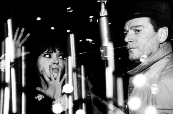 Alphaville, une étrange aventure de Lemmy (1965) Director: Jean-Luc Godard...Natacha and Lemmy in  the future or something...(Anna Karina, Eddie Constantine