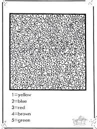 image result for adults coloring by number pages - Adult Color By Number Pages