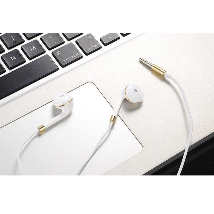 Écouteurs Urban intra-auriculaires avec micro - Blanc / Or