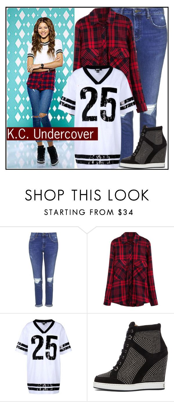 """""""KC Undercover Style"""" by sweet-jolly-looks ❤ liked on Polyvore featuring Topshop, DKNY, Jimmy Choo, disney, zendaya, DisneyChannel and kcundercover"""