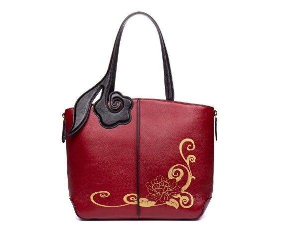 c61639dd415f Large Women Top Handle Satchel Genuine Leather Tote Purse Vintage Shoulder  Bag  Marilona  ShoulderBag