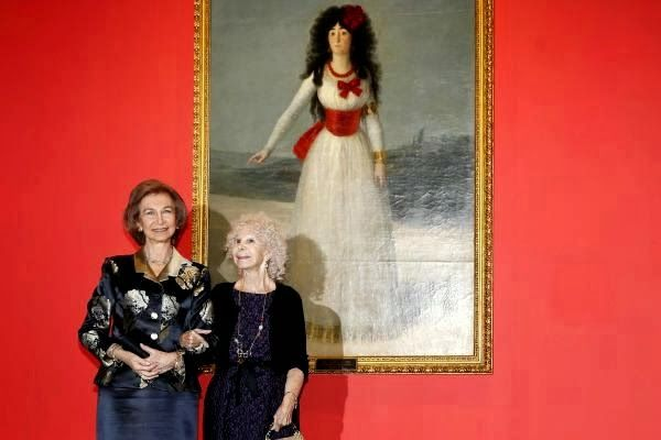 Queen Sofia of Spain and Duchess Cayetana of Alba