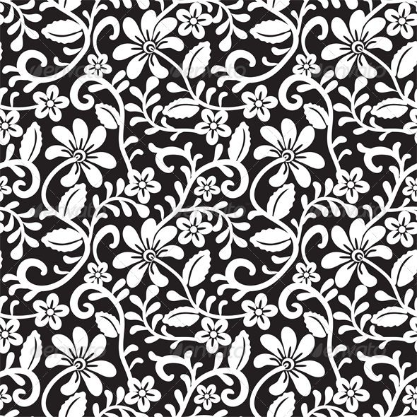 Lace Seamless Pattern Vector Art Download Crochet Vectors