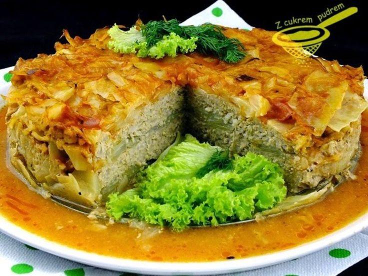 Tort gołąbkowy - Obiad gołąbki,mięso mielone,obiad,ryż - kobieceinspiracje.pl
