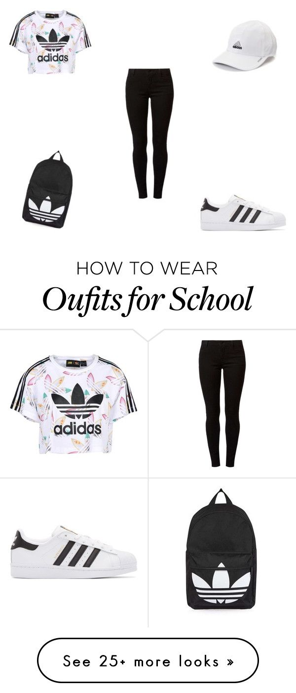 """High School Girl #37/ Adidas Outfit"" by queenbubbs on Polyvore featuring adidas Originals, Dorothy Perkins, adidas and Topshop"