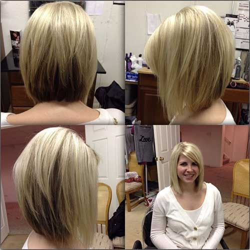 Shoulder Length Angled Bob