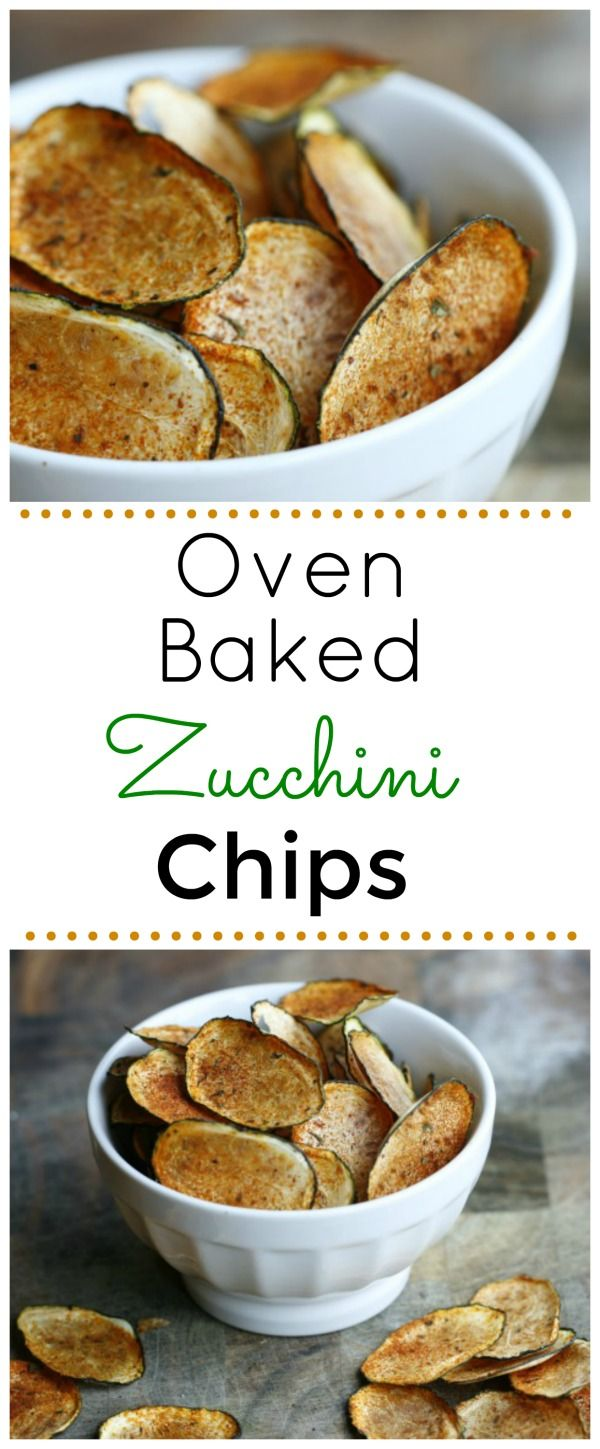 Oven Baked Zucchini Chips. A low carb way to enjoy the crunch of a chip! Healthy and deilcious!